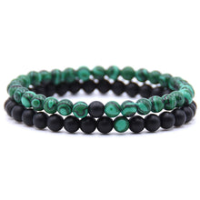 HONEYYIYI 2pcs/set Natural Stone Mixing beads Bracelet men Bracelets & Bangles Jewelry men gifts pulseras