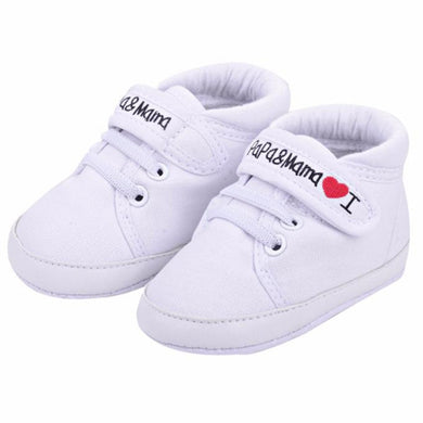 Newborn Baby Shoes Unisex First Walkers 0-18M Canvas Sneaker