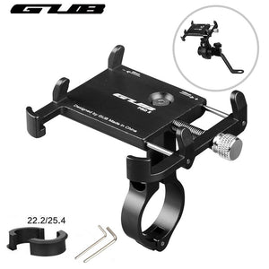 "GUB Aluminum Universal Bicycle Phone Mount Holder MTB Mountain Bike Motorcycle Handlebar Clip Stand for 3.5"" to 7.5"" Smartphones"