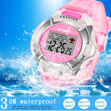 New Waterproof Children Watch Boys Girls LED Digital Sports Watches Plastic Kids Alarm Date Casual Watch