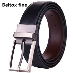Men's Belts Genuine Leather Dress Reversible