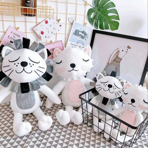 40cm Kawaii Plush Cat Lion Doll Toys For Children