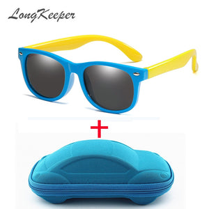 Kids Sunglasses with Case Polarized Silicone Safety UV400