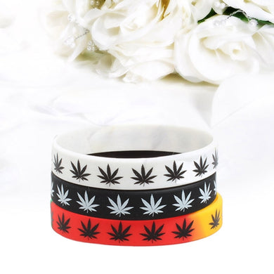 Silicone Bracelet&Bangles Black White Color Wristband Fashion Jewelry print 1pc Bracelet
