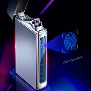 New Double Plasma Arc Lighter Windproof Electronic USB Recharge