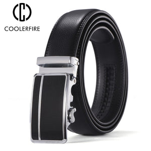 Belts for Men Genuine Leather Black Belt Automatic