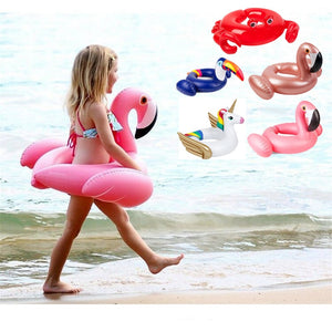 Water Sports Children Swim Float Swimming Ring Flamingo