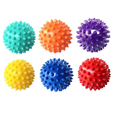 7CM 6 Color Fitness PVC Hand Massage Ball PVC Soles Hedgehog Sensory Training Grip the Ball Portable Physiotherapy Ball
