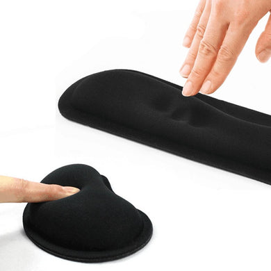 Durable Memory Foam Set Nonslip Mouse Wrist Support/ Keyboard Wrist Rest for Office Computer 8 DJA99