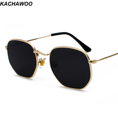 Gold Sunglasses Square Metal Frame