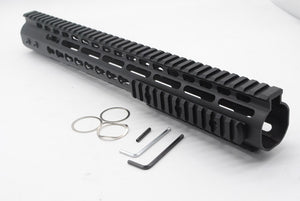 TriRock 15'' Length Free Float Keymod Handgaurd Ultralight Fit AR-15 .223/5.56 Rifle w/o 3 x 13 slots Picatinny Rail Sections