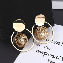 Drop Dangle Earrings Statement Earrings Fashion Metal Earrings For Women Gold And Silver Jewelry Simple Vintage