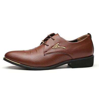 Men Leather Dress Shoes Luxury Brand