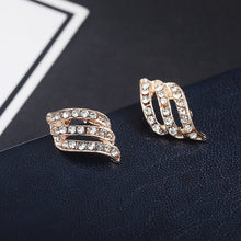 Fashion Gold Color Style Simple Crystal Stud Earrings For Women