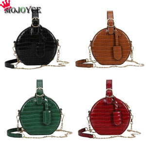 Round Crossbody Messenger Chain Bags for Women