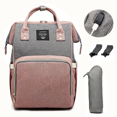 USB Diaper Bag Backpack for Mom