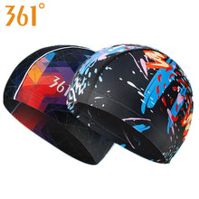 361 Water Sports Swimming Cap for Pool Waterproof Swim Caps Long Hair Women Swimming Hat for Men Quality Fashion Print Brand