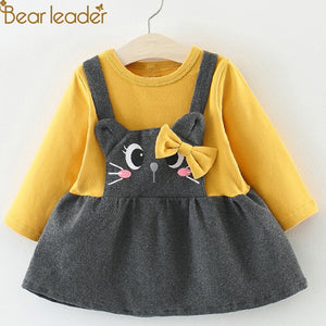 Girls Casual Dress with Animal Designs