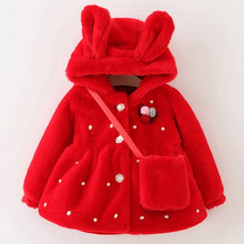 Girls Thick Winter Coat with Bunny/Bear Ears