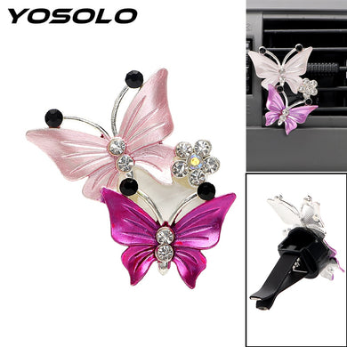YOSOLO Butterfly Air Freshener Clip Car Perfume Decoration Air Conditioner Outlet  Car-styling Auto Accessories Fragrance