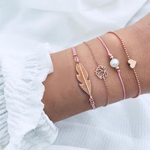 Ailend Bohemian Shell Moon Bracelet Set Fashion Pop Bracelet Women's Gift Vintage Bracelet Party 2019