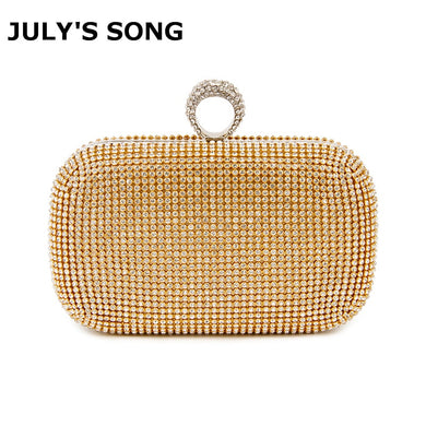 Evening Clutch Bags Diamond-Studded Evening Bag With Chain Shoulder Bag Women's Handbags