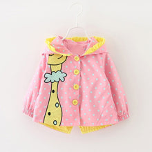 Bear Leader Baby Jackets Autumn Kids Coats Jackets Clothing Baby girl Clothes Cartoon Coats dots hooded Children Outerwear&Coats