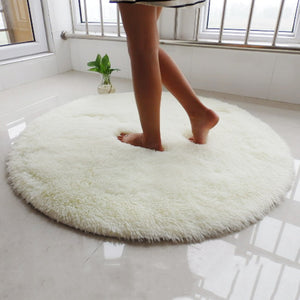 Fluffy Round Rug Carpets for Living Room Long Plush Carpet Kids Room Faux Fur Rugs for Bedroom Shaggy Area Rug Home Modern Mat