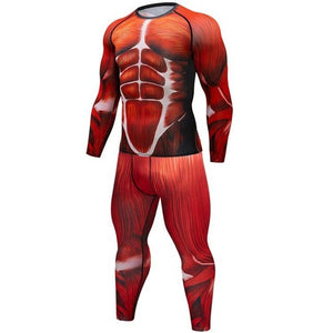 Compression Men's Sport Suits Quick Dry 3D Printed MMA sets