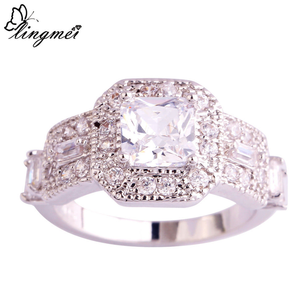 White Zircon Silver 925 Ring