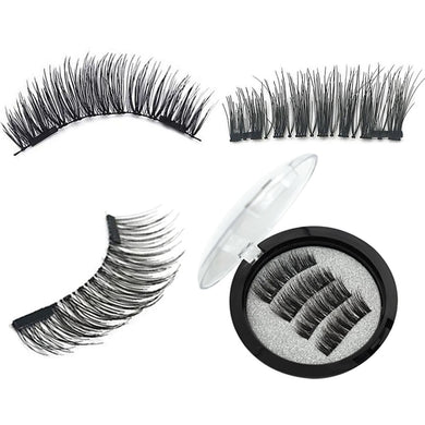 2 Pairs/set Eyelash Thick Magnetic Lashes/2 Magnet Extentions