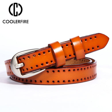 Genuine leather pin buckle Women's belt Casual Fashion