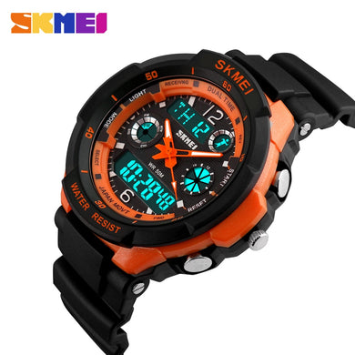 SKMEI Kids Watches Anti-Shock 5Bar Waterproof Outdoor Sport Children Watches