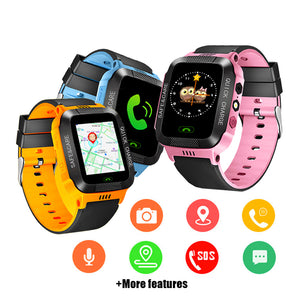 Smart Watch Kids Touch Screen Camera Positioning Children's Watches SOS Call Location Anti-Lost Reminder Watch