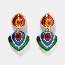 Best lady Vintage Multicolored Square Drop Earrings For Women
