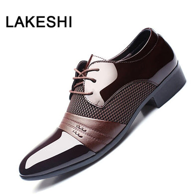 Men's Dress Shoes Formal Breathable Italian Fashion Oxfords