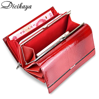 Genuine Leather Women Wallet Multifunction