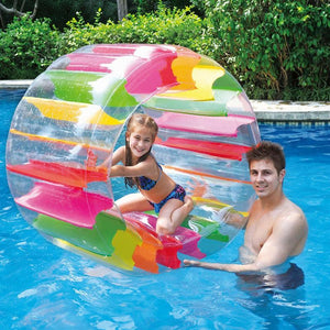 Kids Colorful Inflatable Water Wheel Roller Float 36inch