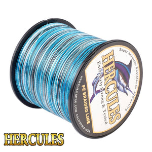 Hercules 4 Strands High Quality Braided Line 100M 300M 500M 1000M 1500M 2000M PE Fishing Line Saltwater Weave Fishing Cord Pesca