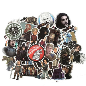 61pcs Movie Game of Thrones Suitcase Decal Sticker Cartoon DIY Scrapbook Craft Decor cosplay prop
