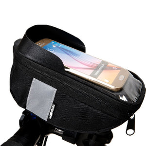 Bicycle Mobile Phone Bag Case Holder Cycling Bike Head Tube Handlebar Cell 6.5in