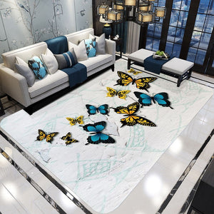 Modern 3D Dream Butterfly Printed Carpets for Living Room Home decor Soft Rugs Bedroom Area Rug and Carpet tapetes tapis salon