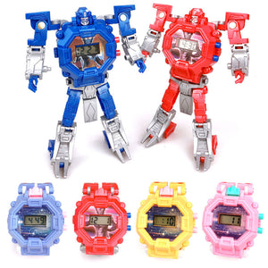 Waterproof Robot Children Watch Toys for Children Boys Watches