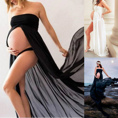 Sexy Maternity Dresses for Photo Shoot Strapless Maxi Long