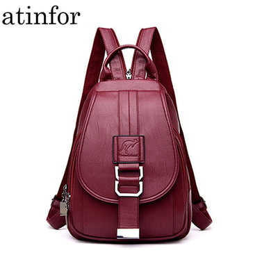 Anti Theft Women's Leather Backpack Purse