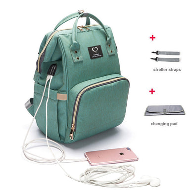 Diaper Bag USB Large Capacity Nappy Bag Waterproof