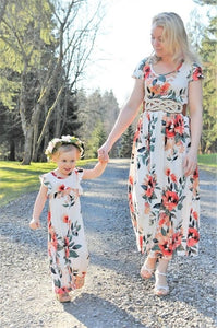 Off shoulder Mother/Daughter dresses family matching outfits