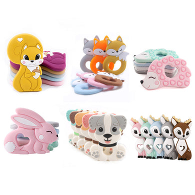 Tiny Rod BPA Teethers Cartoon Animals Shape Pacifier Clips Accessories