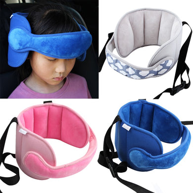 Kids Adjustable Car Seat Head Support Head Fixed Sleeping Pillow