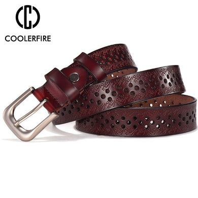 High Quality Luxury Belt Genuine Leather Top Pin Buckle Belts
